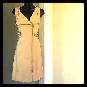 CALVIN KLEIN sz 2 khaki versatile dress